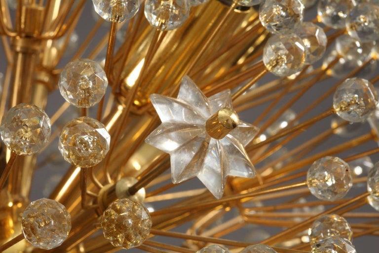 Mid-Century Modern Glass Snowball Pendants by Emil Stejnar for Rupert Nikoll, Austria, 1960s For Sale