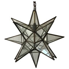 Glass Star Chandelier