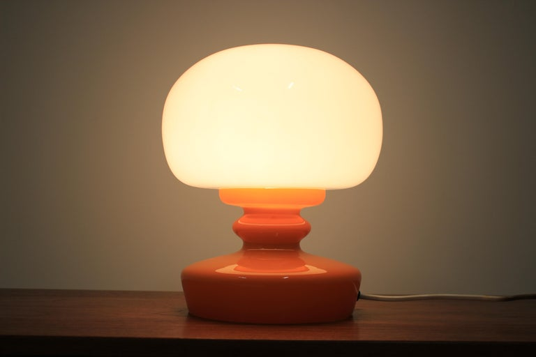 Mid-Century Modern Glass Table Lamp, 1970s For Sale