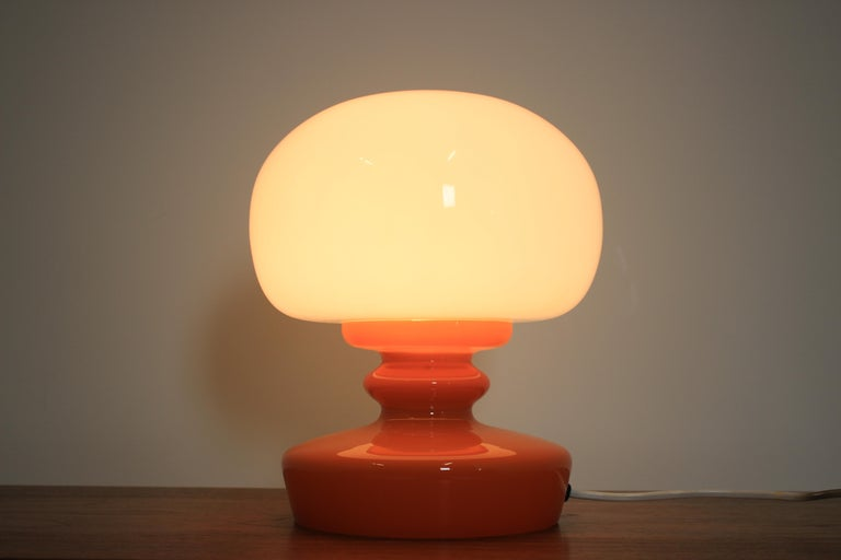 Glass Table Lamp, 1970s In Good Condition For Sale In Barcelona, ES