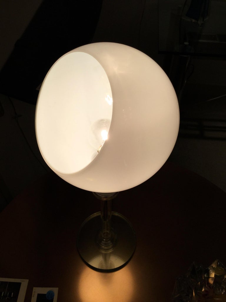 Glass Table Lamp by Fontana Arte, Italy, 1980s In Good Condition For Sale In New York, NY