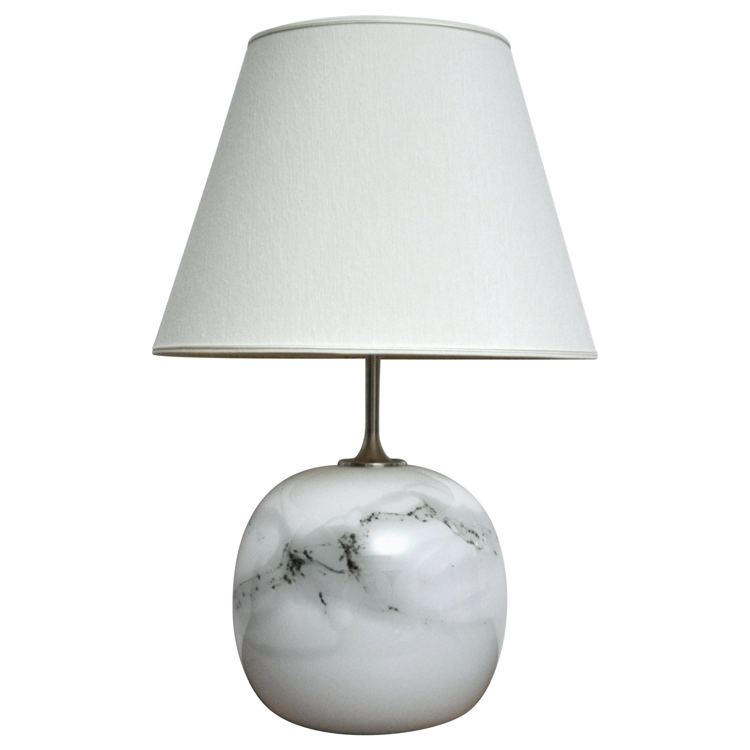 Glass Table Lamp by Michael Bang, Holmegaard Glasværk, 1982