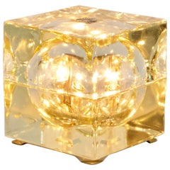Glass Table Lamp 'Cubosfera' by Alessandro Mendini, 1960s