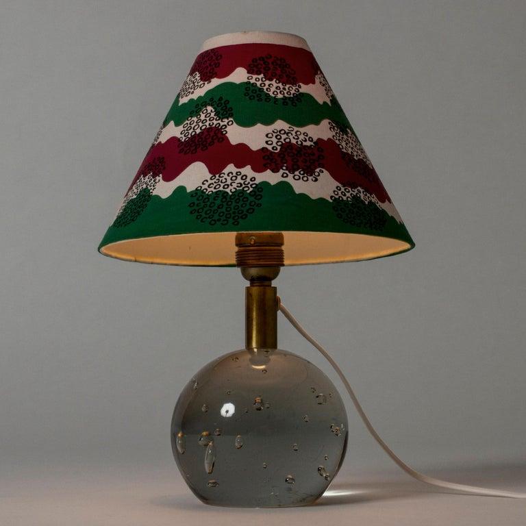 Scandinavian Modern Glass Table Lamp Designed by Josef Frank for Svenskt Tenn, Sweden, 1940s For Sale