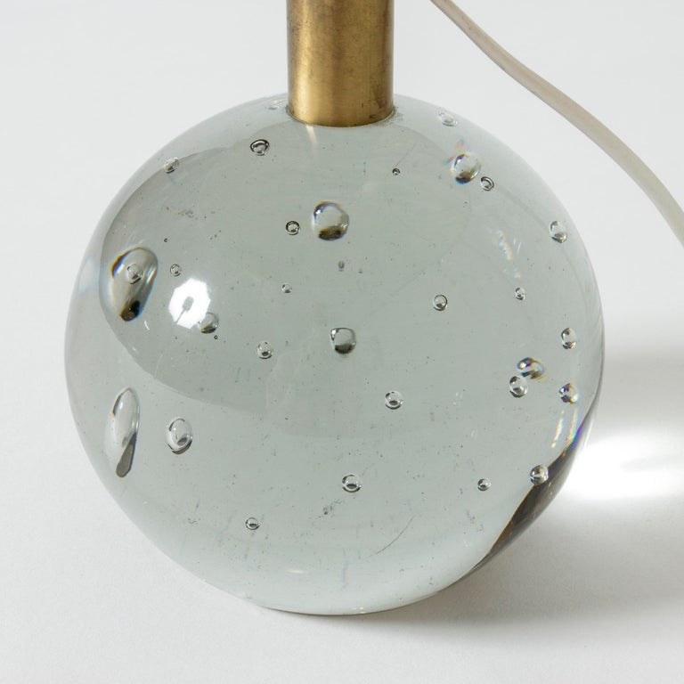 Glass Table Lamp Designed by Josef Frank for Svenskt Tenn, Sweden, 1940s In Good Condition For Sale In Stockholm, SE