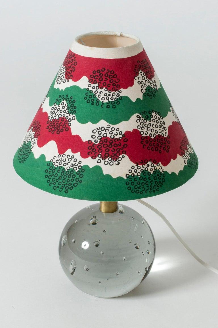 Mid-20th Century Glass Table Lamp Designed by Josef Frank for Svenskt Tenn, Sweden, 1940s For Sale