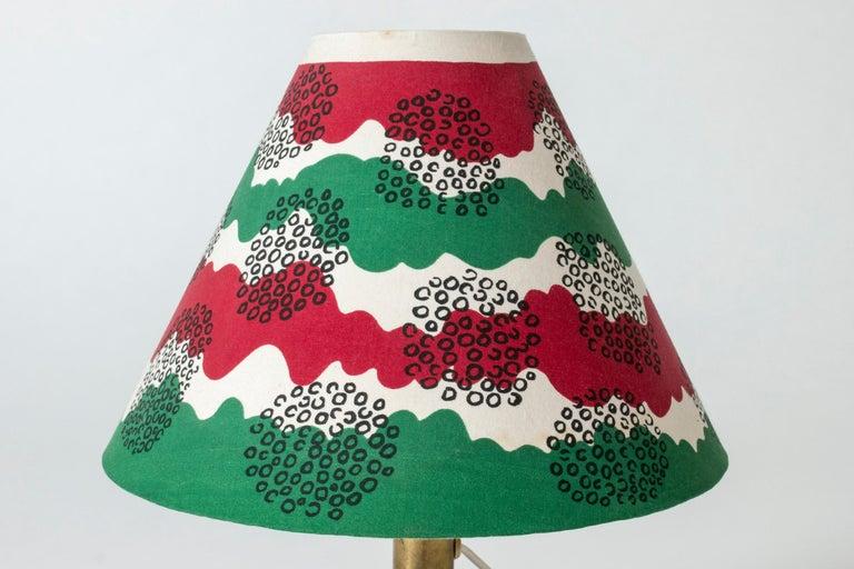 Textile Glass Table Lamp Designed by Josef Frank for Svenskt Tenn, Sweden, 1940s For Sale