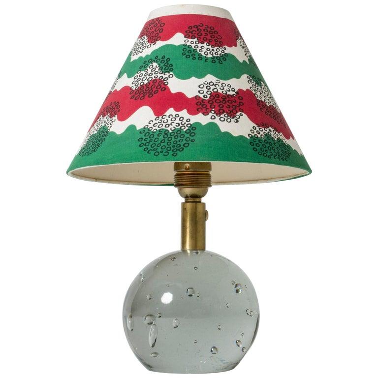 Glass Table Lamp Designed by Josef Frank for Svenskt Tenn, Sweden, 1940s For Sale