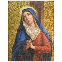 "Glass Tile Mosaic Plaque ""Our Lady of Sorrows"""