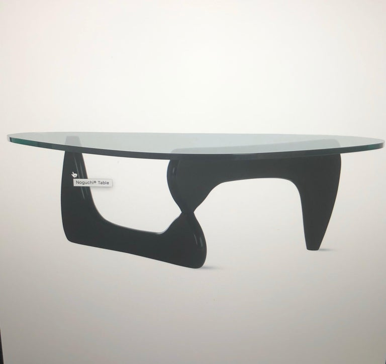 Mid-Century Modern Glass Top Coffee Table by Isamu Noguchi for Herman Miller