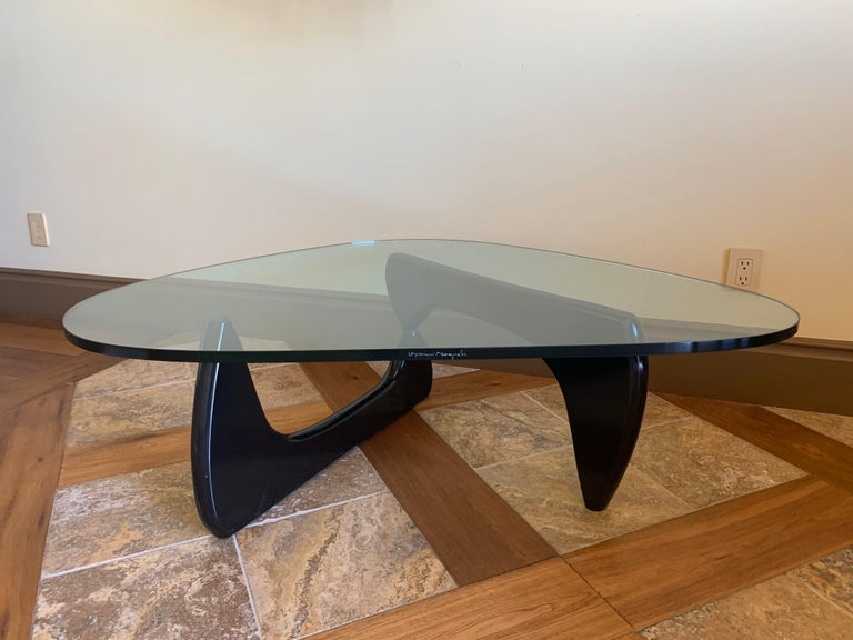 Glass Top Coffee Table by Isamu Noguchi for Herman Miller 1