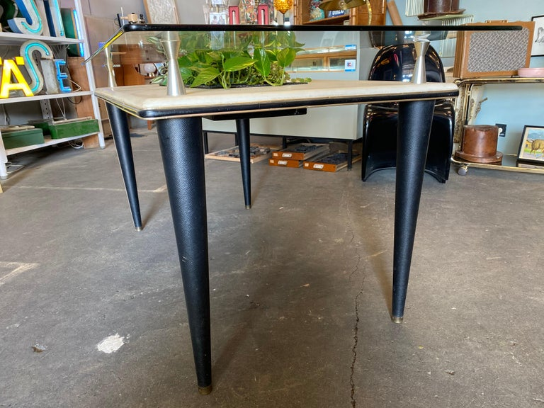 Glass Top Dining Table, Italy, 1950s For Sale 4