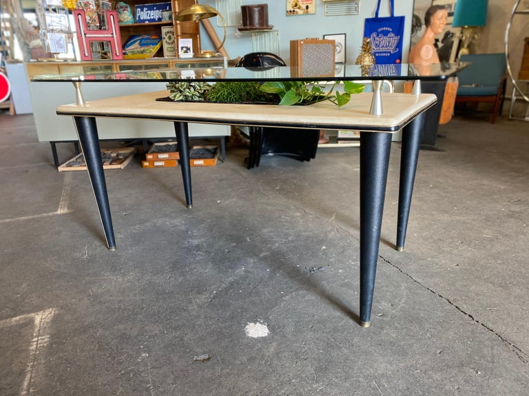 Glass Top Dining Table, Italy, 1950s For Sale 5