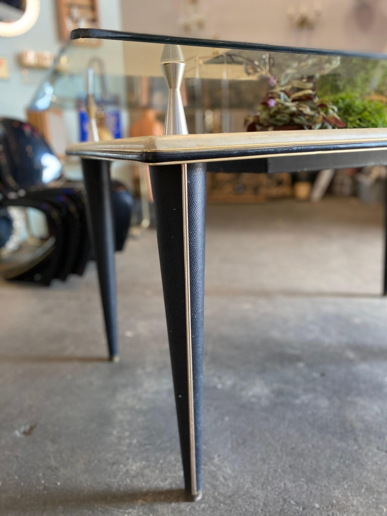 Glass Top Dining Table, Italy, 1950s For Sale 6