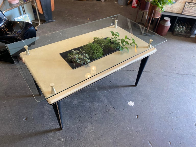 Glass Top Dining Table, Italy, 1950s For Sale 7