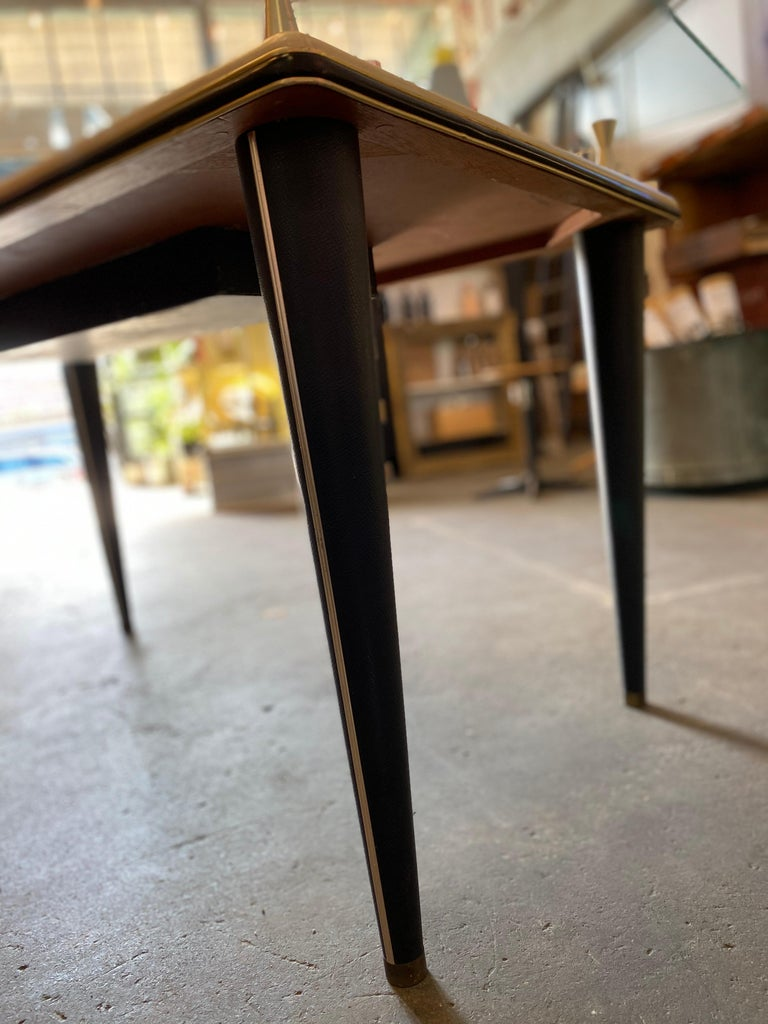 Glass Top Dining Table, Italy, 1950s For Sale 9