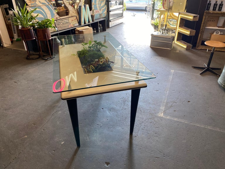 Glass Top Dining Table, Italy, 1950s For Sale 10