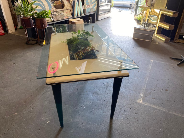 Glass Top Dining Table, Italy, 1950s For Sale 11