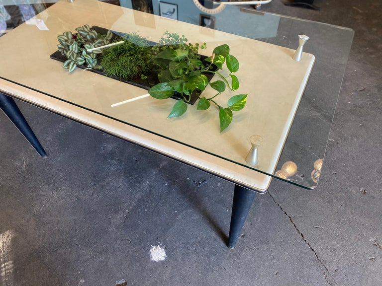 Glass Top Dining Table, Italy, 1950s For Sale 12