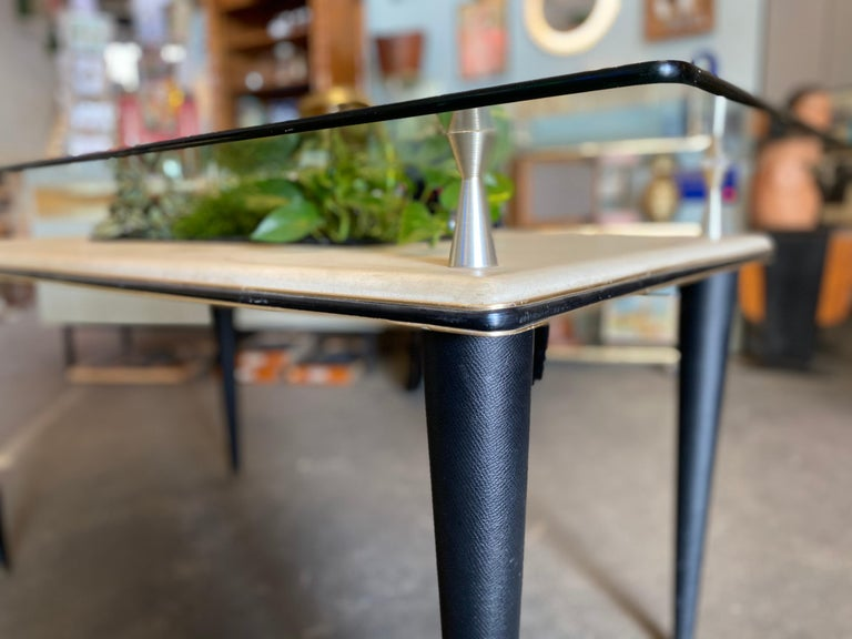 Glass Top Dining Table, Italy, 1950s For Sale 1
