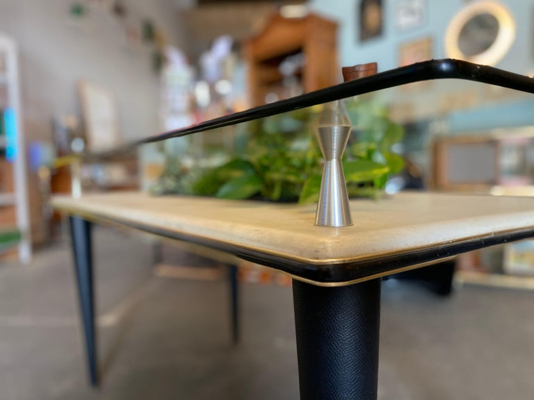 Glass Top Dining Table, Italy, 1950s For Sale 2