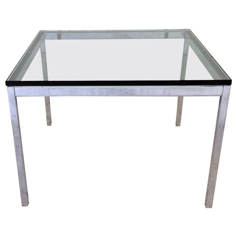 Glass Top Florence Knoll Side Table For Sale