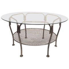 Glass Top Metal Coffee Table