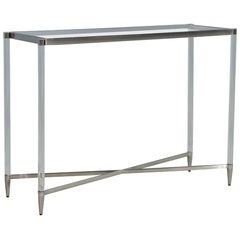 Glass Top Modern Acrylic Console Table