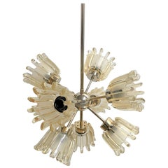 Glass Tulip Sputnik Chandelier by Doria, 1960s