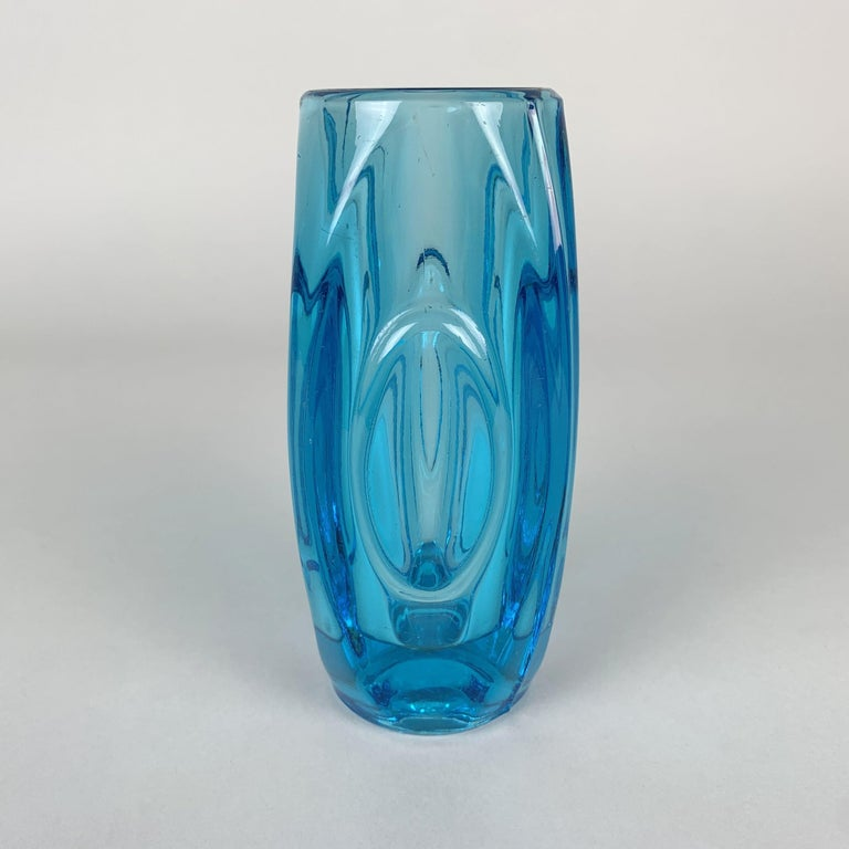 Mid-20th Century Glass Vase by Rudolf Shrotter for Sklo Union, 1950s For Sale