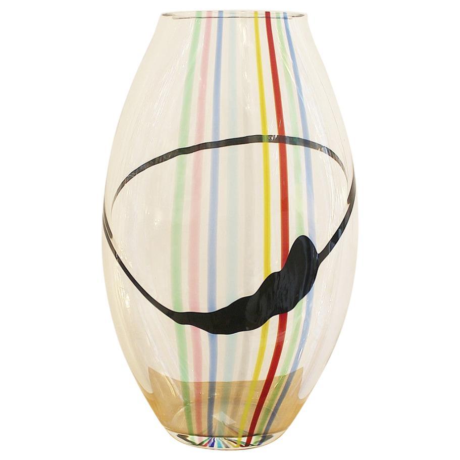 Glass Vase Seguso AV by Livio Seguso for Oggetti, Italy, circa 1970s