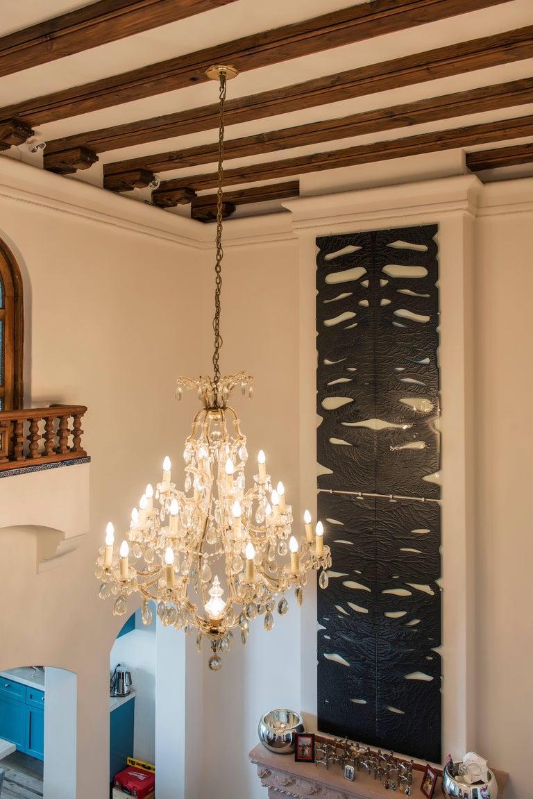 Glass Wall Decoration Roarshax in Black Organic Design by Orfeo Quagliata In New Condition For Sale In Naucalpan, Edo de Mex