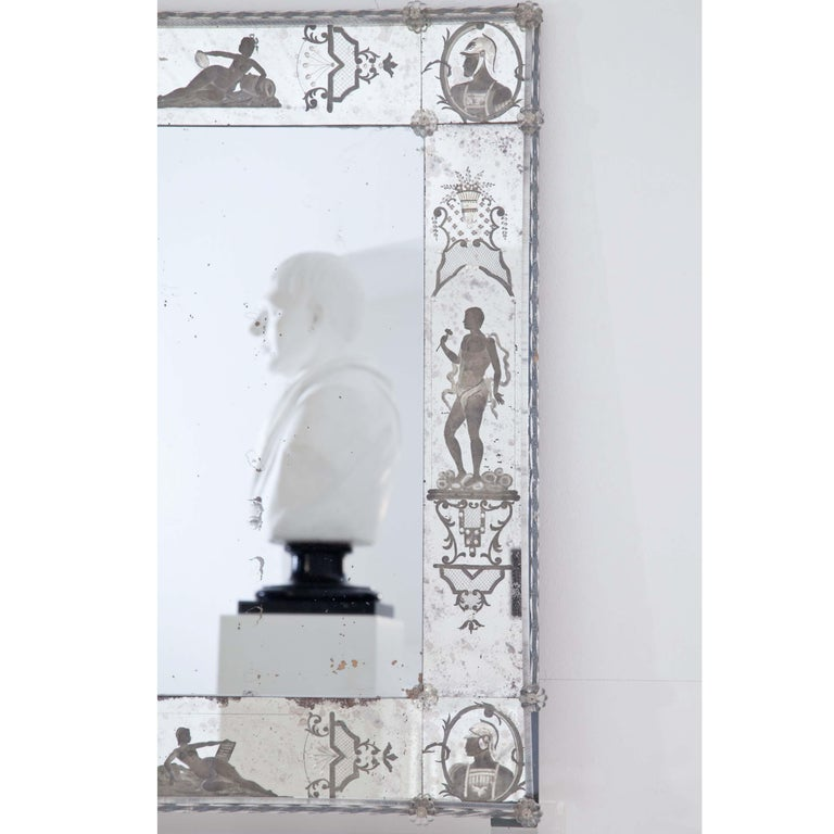 Glass Wall Mirror, Italy, Early 19th Century For Sale 1