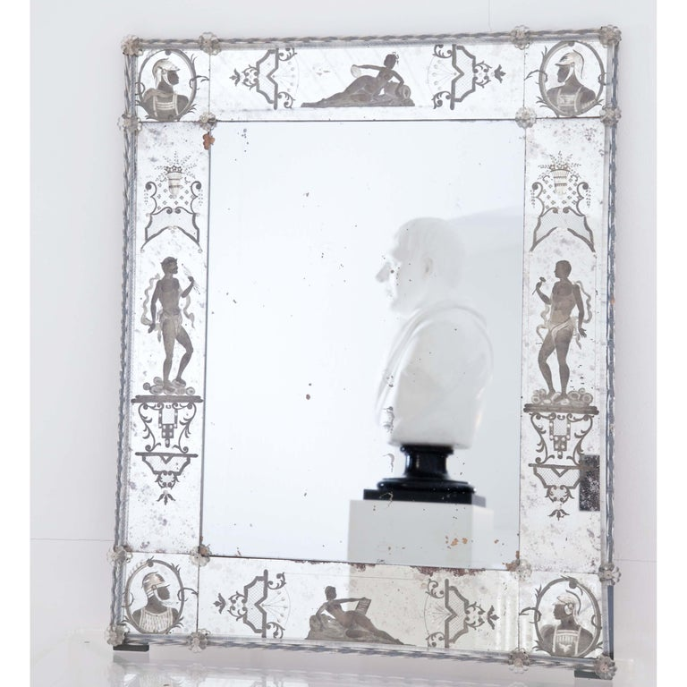 Glass Wall Mirror, Italy, Early 19th Century For Sale 2
