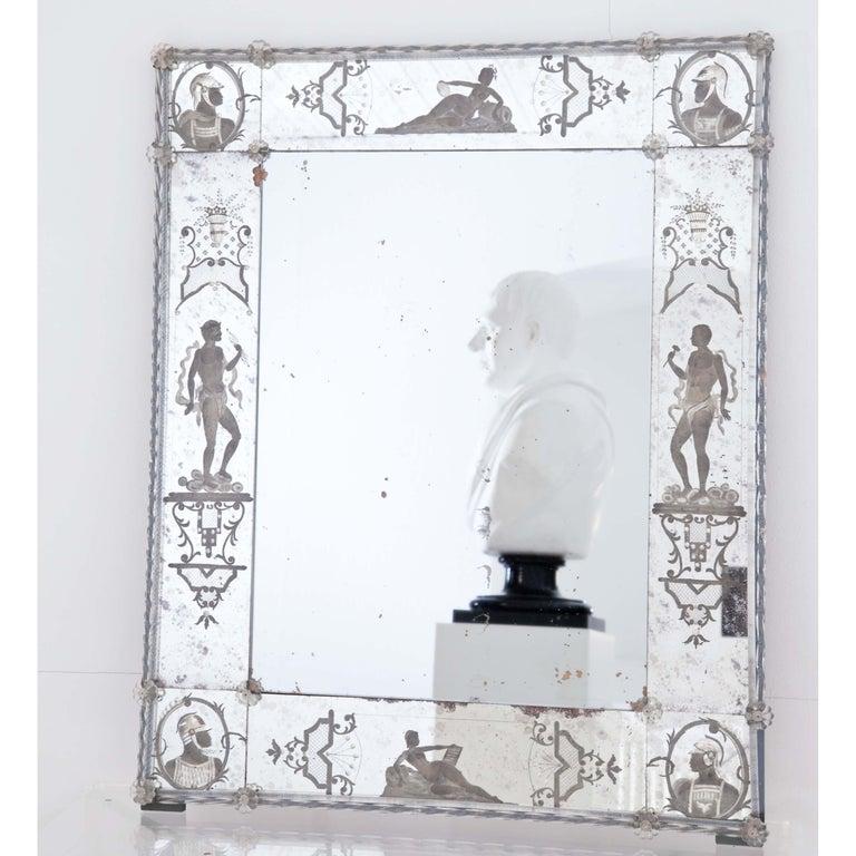 Glass Wall Mirror, Italy, Early 19th Century 2