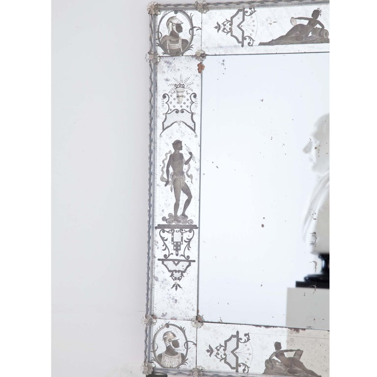 Glass Wall Mirror, Italy, Early 19th Century For Sale 3