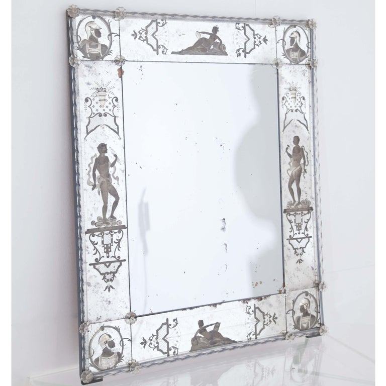 Glass Wall Mirror, Italy, Early 19th Century For Sale 4