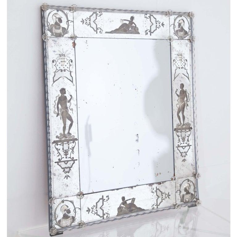 Glass Wall Mirror, Italy, Early 19th Century 4