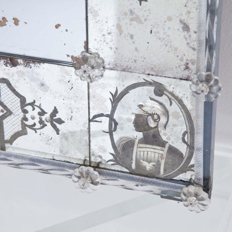 Glass Wall Mirror, Italy, Early 19th Century 5