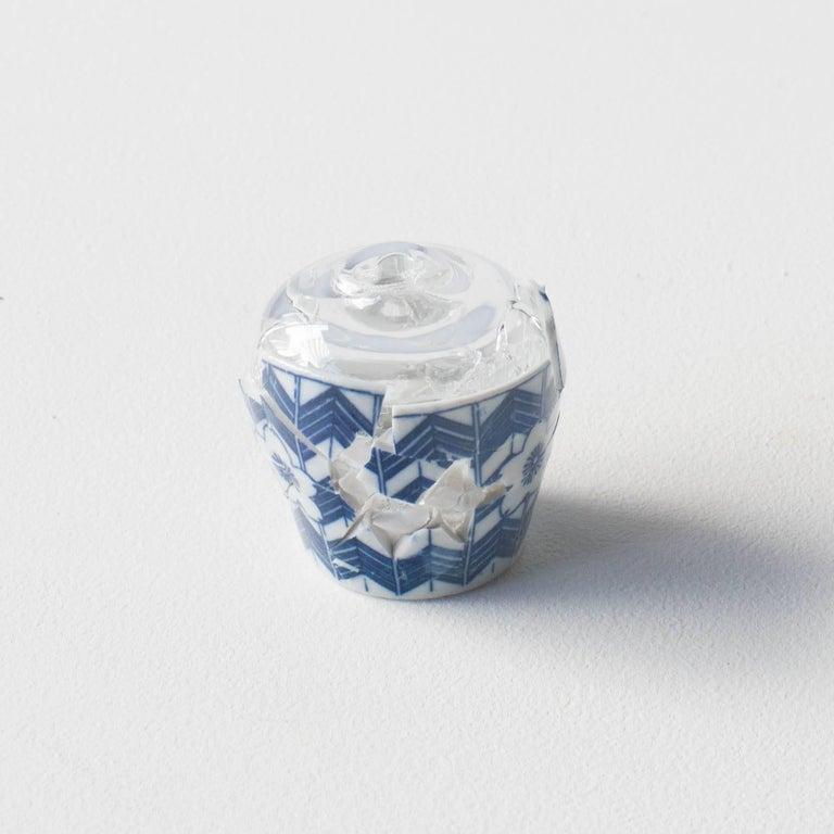 Japonisme Glass Wearing Ceramic Vase 03 Contemporary Zen Japonism Style For Sale