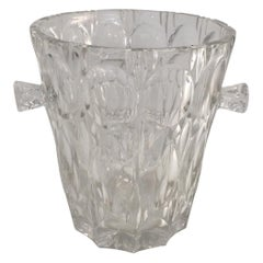 Glass Wine or Chanpagne Bucket, French, Circa 1970