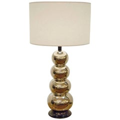 Glaze Ceramic Stacked Ball Table Lamp