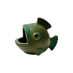 Glazed Ceramic Fish Figure by Gunnar Nylund for Rörstrand, Sweden, 1950s
