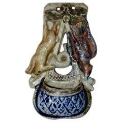 Glazed Ceramic Hunting Theme Match Safe