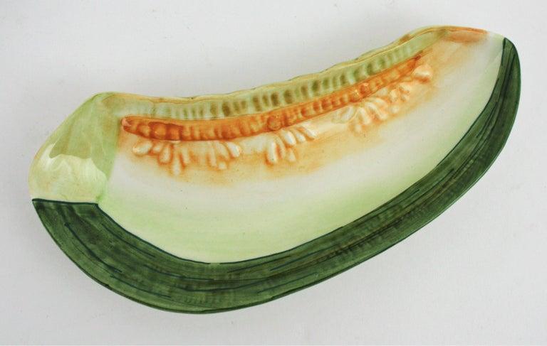 Glazed Ceramic Melon Server Set, 1960s For Sale 5