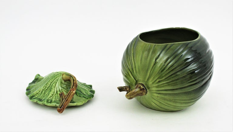 Glazed Ceramic Melon Server Set, 1960s For Sale 10