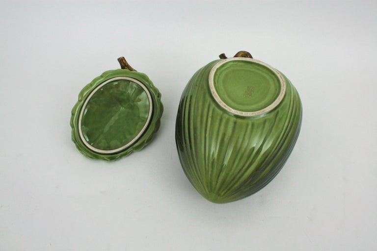 Glazed Ceramic Melon Server Set, 1960s For Sale 13