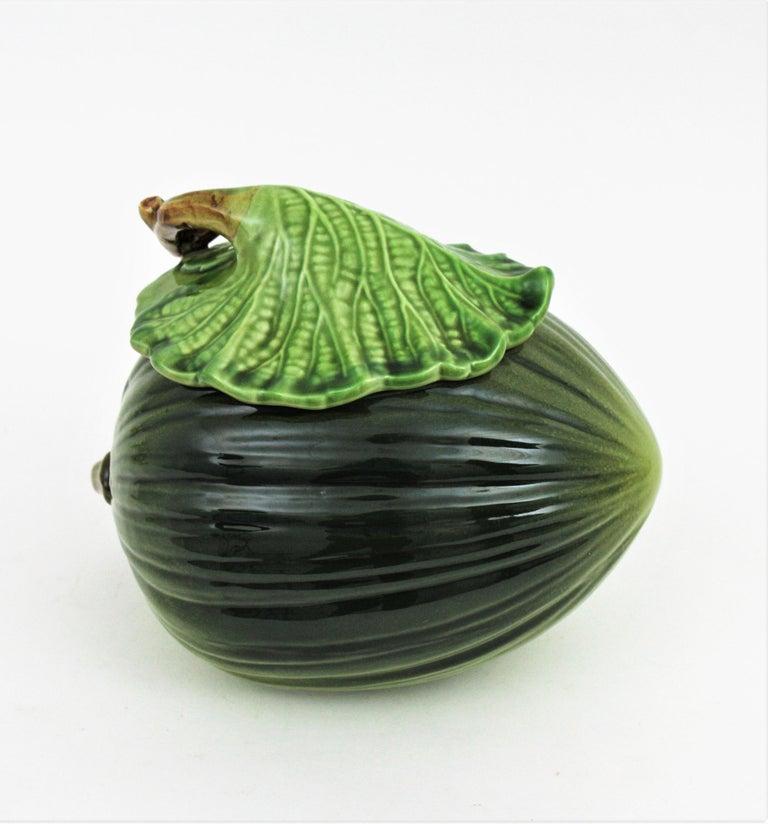 Glazed Ceramic Melon Server Set, 1960s For Sale 1