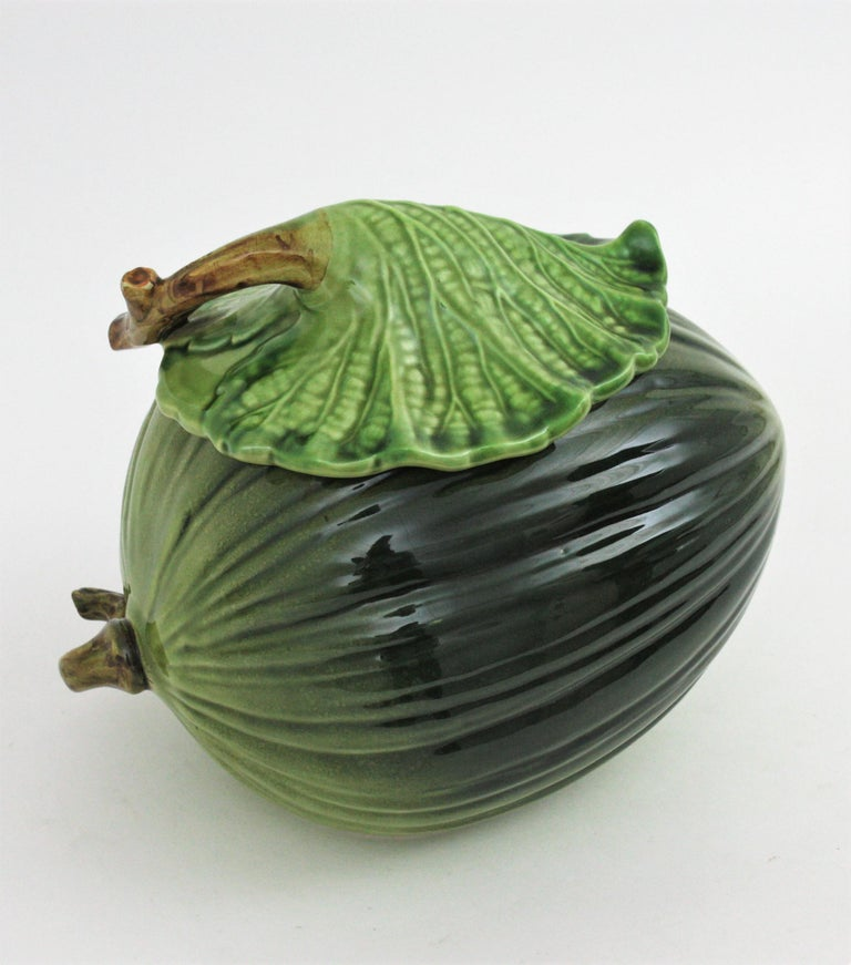 Glazed Ceramic Melon Server Set, 1960s For Sale 2