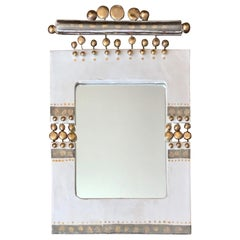 Glazed Ceramic Mirror by Georges Pelletier